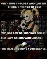 Harley Quinn And Joker Quotes. Best Joker Quotes, Badass Quotes, Best Quotes, Joker Und Harley Quinn, Trust, Marca Personal, Twisted Humor, Queen Quotes, Strong Quotes