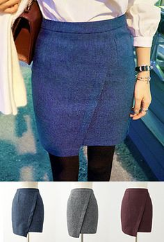Imvely Asymmetric Pencil SkirtA well-fitting skirt in a flattering silhouette like this asymmetric pencil cut piece is sure to wake your whole wardrobe up. All you need is a plain top to look effortlessly stylish and edgy!-High waist-Pencil cut-Zip-up back closure-Slim fit-Asymmetric styling-Mid-thigh length-Available color(s): Gray, Blue, Wine