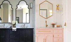 As molduras mais diferentes prometem personalidade para os espelhos do banheiro