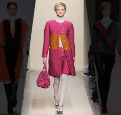 Balienciaga coat. Love the colorblocking.