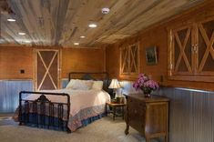Corrugated Tin Ceiling Cabin Ideas | Corrugated Wainscoting | Cabin Ideas