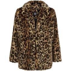 New Look Brown Leopard Print Faux Fur Coat ($37) ❤ liked on Polyvore featuring outerwear, coats, jackets, brown pattern, brown coat, new look coats, print coat, pattern coat and imitation fur coats