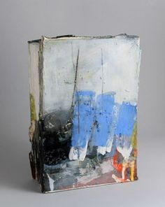 Barry Stedman - Slab vessel with blue 29x19x8cm