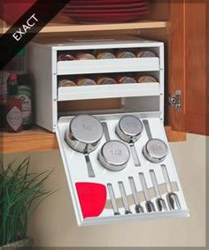 space-saving-rack-4 Great idea for a small kitchen Tiny House Pins