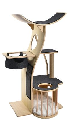Stunning Cat Furniture Design Ideas That You Need To Try Diy Cat Tree, Cat Tree Condo, Cat Condo, Best Cat Tree, Modern Cat Furniture, Pet Furniture, Furniture Design, Diy Furniture Renovation, Diy Furniture Cheap