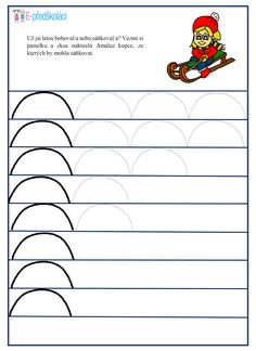 Pracovní list - zimní sporty Free Printable Handwriting Worksheets, Origami Shirt, Starting A Daycare, Winter Activities For Kids, Winter Project, Pre Writing, Early Education, Winter Theme, Winter Sports