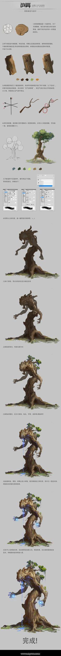 树的画法与设计 by 战翼CG文化教育 on CGVOO
