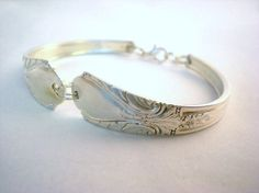 Spoon Bracelet Silverware Jewelry Silver by monpetitchouboutique, $24.99