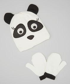 Panda Beanie & Mittens
