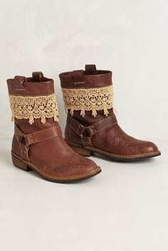 My boots will be getting some lace this fall . Love boot jewelry  Zephyr Moto Boots