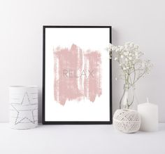 A modern and stylish art print to add interest to any wall space. This print will look perfect in any living room, bedroom, or playroom A great gift for any occasion. Modern blush pink and grey colours. The print for a relaxing space.  Our prints are made to order and are printed on 230gsm fine art paper.  Size options: A4 (210 x 297mm) A3 (297 x 420mm)  Our prints are designed to fit standard off the shelf frames. Please note that the picture frame and props in the photo are not included…