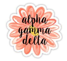 Alpha Gamma Delta Sticker