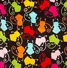 Cuddle Fleece Plush Minky Feel Barrel Full of Monkeys Print 1 ⅞ Yards - Barrel, Cuddle, feel, Fleece, FULL, Minky, Monkeys, Plush, Print, yards
