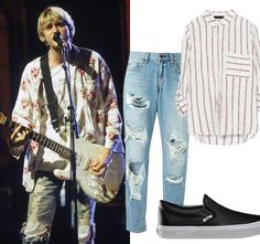 In honor of the new Kurt Cobain documentary Montage of Heck , shop looks inspired by the rocker.