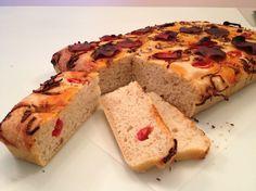 Sourdough focaccia Banana Bread, Desserts, Food, Tailgate Desserts, Deserts, Essen, Postres, Meals, Dessert