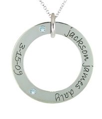 Posh Mommy Loop 2 Names with Birthstones Available at Jim Kryshak Jewelers