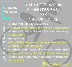 Spinning/Cycling Workout - Intervals #move #fitfluential