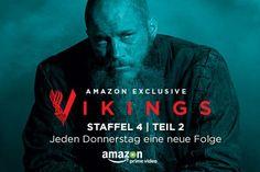 Teil zwei der vierten Staffel von Vikings ab sofort exklusiv bei Amazon Prime Video - http://aaja.de/2fVEmsQ