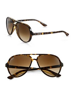 Ray-Ban - Iconic Cats 5000 Aviator Sunglasses - Saks.com