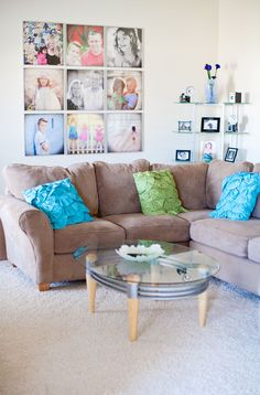 I like the neutral with pops of color. I want to get away from so many earth tones at home! Bright colors are fun!