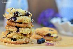 Blaubeer Muffin Crumble Cookies mit weißer Schokolade   Das Knusperstübchen