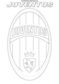 disegno logo squadra calcio juventus colorare