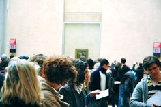 My first glimpse of Mona Lisa. As you can tell she is very popular.