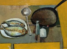Simon Quadrat Still Life with Frying Pan