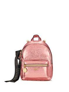 Metallic Crackle Mini City Backpack
