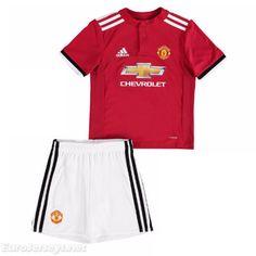 21a1171afa7 Eurojerseys.net maglietta da calciatore Manchester United 2017-18 Home Kids Soccer  Jerseys Kit