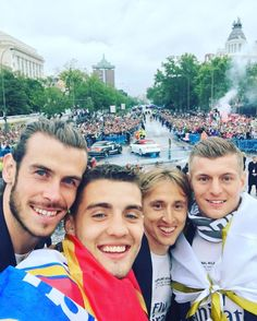 Gareth Bale, Mateo Kovacic, Luka Modric & Toni Kroos la undecima