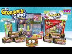 Grossery Gang Full Box 30 Candy Bar Surprise Mystery Blind Bags of Squishy Food Toys - YouTube