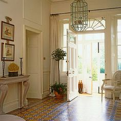 hang a curtain rod and drapes for privacy around front door slide lights - this is what I need for my front door