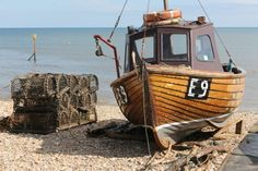 One of the working fishing boats on Sidmouth beach (photo by Nigel Dutt). Sidmouth | South Devon | England