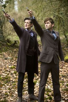 Ten and Eleven have a Sonic Screwdriver competition