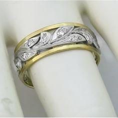 2 Tone Wedding Band   New York Estate Jewelry    