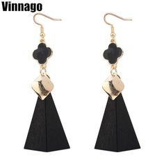 Find More Drop Earrings Information about VINNAGO Big Triangle Drop Earrings  for Women Gold Plated Enamel 95f5eb79b413