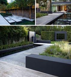 Moderne heel strakke tuin. Andre Meilink
