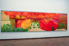 "I have encountered this wonderful, breathtaking painting named ""A Closer Grand Canyon"" by David Hockney in the Louisiana, near Copenhagen. This is the first painting that one sees while entering the museum. it's about 4.60 meters long and I was simply speechless."