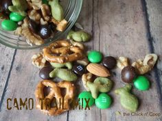 The Chick n' Coop: Hunter's Camo Trail Mix for my nephew's birthday Camo Birthday Party, 1st Birthday Parties, Boy Birthday, Birthday Ideas, Happy Birthday, Kid Parties, Birthday Cakes, Deer Hunting Party, Deer Hunting Birthday