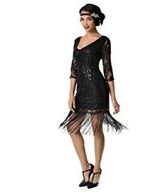 Unique Vintage Black Beaded & Sequin Margaux Sleeved Fringe Cocktail D Great Gatsby Dresses, 20s Dresses, Unique Dresses, Fashion Dresses, Flapper Dresses, Party Dresses, 1920s Flapper Costume, Evening Dresses, Latin Dresses