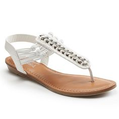 Candie's® Women's Jeweled Sandals - White