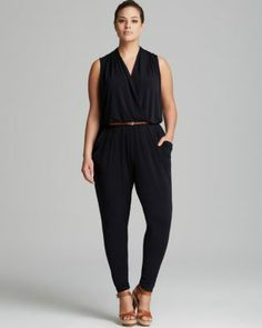 MICHAEL Michael Kors Plus Sleeveless Belted Jumpsuit  Bloomingdale's