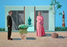 David Hockney English, born 1937, American Collectors (Fred and Marcia Weisman)