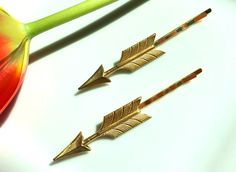 Gold Arrow Hair Pins