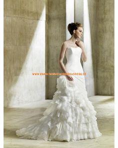 2013 Unique Brautmode aus Chiffon im Meerjungfrauenstil Trägerlös online kaufen