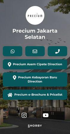 Build by Abdael Nusa project in Jakarta Selatan:  🏡 Precium Kebayoran Baru 🏡 Precium Cipete 🔜 Precium Jeruk Purut 🔜 Precium Kemang • ☎️ 021 - 78839898 Jakarta, Sales Agent, To Reach, Personal Branding, Real Estate, Social Media, Link, Highlight, Landing