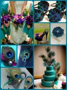 Plan a gorgeous peacock themed wedding using these simple ideas.