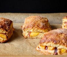 Peach Cobbler Scones... recipe is delicious!