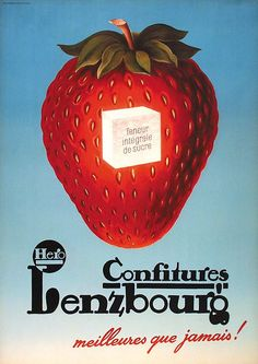 Confitures Lenzbourg Retro Ads, Vintage Ads, Strawberry Preserves, Food, Posters, Antique, Advertising Poster, Fruits And Veggies, Jelly